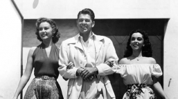 With Ronald Reagan and Estelita
