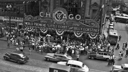 The Chicago Theatre during the world premier with singer Billy Eckstine on stage, Aug. 7, 1951