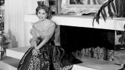 In front of her portrait, Sept. 9, CBS Television