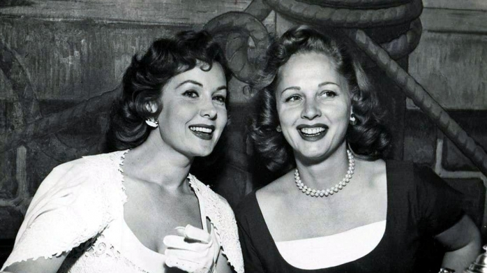 With her sister Beverly