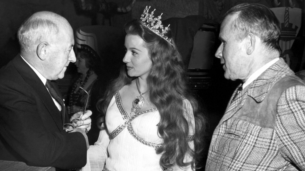 With Cecile B. DeMille and director Tay Garnett