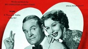 "Sheet Music: Bob Hope and Rhonda Fleming: ""A Thousand Violins""/""Lucky Us!"", Paramount Music Corporation, Lyrics & Music by Jay Livingston and Ray Evans"