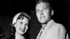 With actor John Hart (John Hilton), Febr. 2, 1950
