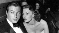 With date, actor Lex Barker, June 6, 1950