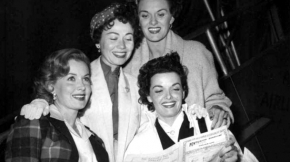 With Jane Russell, Connie Haines and Beryl Davis