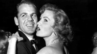 With her second husband, physician Dr. Lewis V. Morrill at the Cocoanut Groove, Los Angeles, Sept. 23, 1955 (married July 11, 1952; divorced June 1958)
