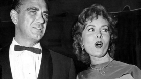 With longtime admirer, millionaire Walter Troutman, May 4, 1955 (seen with her 1955 and 1959)