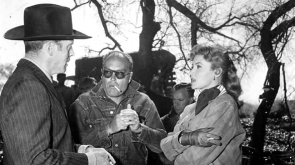With Burt Lancaster and director John Sturges