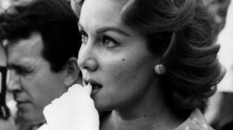 With her third husband, actor Lang Jeffries on honeymoon in Spain, 1960 (married Apr. 3, 1960; divorced Jan. 11, 1962)