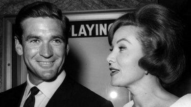 With date, actor Rod Taylor at the premiere of LOLITA, Los Angeles, June 1961 (dated July 1962)