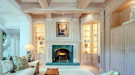 Living room with portrait, Century City, Los Angeles